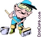 Cartoon street maintenance Vector Clipart picture