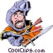 Cartoon medieval guard Vector Clipart image