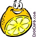 Sliced Cartoon lemon Vector Clipart image