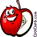 Cartoon apple Vector Clipart graphic