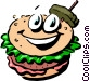 Cartoon hamburger Vector Clipart image
