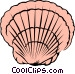 Scallop shell Vector Clipart image