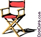 Director's chair Vector Clip Art picture