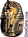 King Tut's mask Vector Clipart picture