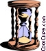 Hourglass Vector Clipart graphic