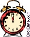 Alarm clock Vector Clip Art image