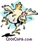 Mad as a wet hen Vector Clipart image