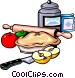 Apple pie ingredients Vector Clipart graphic