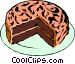 Chocolate cake Vector Clipart illustration