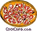 Nachos on a plate Vector Clipart illustration