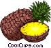 Sliced Pineapple Vector Clipart graphic