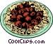 Spaghetti & meatballs Vector Clipart picture