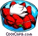 Strawberries & cream Vector Clip Art image