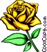 Yellow rose Vector Clipart graphic