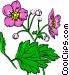 Purple flowers Vector Clipart illustration