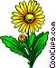 Yellow flower Vector Clip Art image