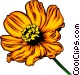 Orange flower Vector Clip Art picture
