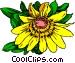 Yellow Daisy Vector Clip Art graphic
