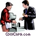 Man buying a hotdog Vector Clip Art picture