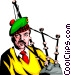 Man playing the bagpipes Vector Clipart picture