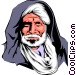 Moroccan man Vector Clipart picture