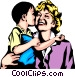 Woman & child Vector Clipart image