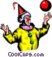 Clown with ball Vector Clip Art image