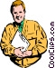Man with a clipboard Vector Clipart graphic