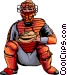 Baseball catcher Vector Clip Art graphic
