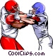 Football players Vector Clipart illustration
