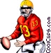 Quarterback ready to pass Vector Clip Art picture