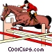 Horse jumping Vector Clipart illustration