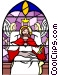 Stained glass window Vector Clipart picture