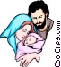 Jesus, Mary and Joseph Vector Clipart picture