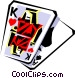 Cool playing card Vector Clipart illustration