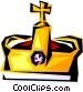 Cool crown Vector Clipart illustration