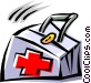 Cool first aid bag Vector Clipart picture