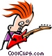 Cool musician Vector Clipart graphic