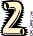 Tube font Vector Clipart illustration