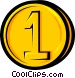 Symbol of a coin Vector Clip Art image