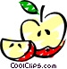Sliced Apples Vector Clipart graphic