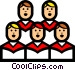Symbol of a church choir Vector Clipart picture