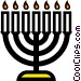 Symbol of a candelabrum Vector Clip Art picture