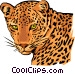 Leopard Vector Clipart graphic
