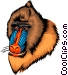 Mandrill Vector Clip Art graphic