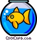 Symbol of a fishbowl Vector Clip Art picture