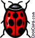 Symbol of a ladybug Vector Clipart graphic