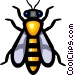 Symbol of a wasp Vector Clipart picture