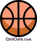 Symbol of a basketball Vector Clipart graphic