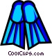 Symbol of diving fins Vector Clipart picture